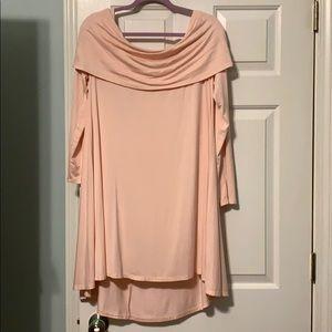 Baby pink tunic dress
